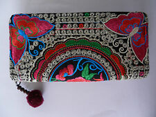 Hmong tribal thai hippy boho ethnic wallet purse unusual gift present Butterfly
