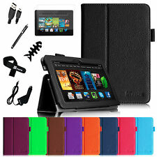 PU Leather Cover Smart Case Accessories For 2013 Amazon Kindle Fire HDX 8.9