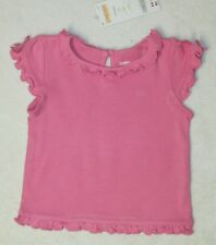 NWT GYMBOREE BUTTERFLY BLOSSOMS Basic Pink Knit T-shirt Keyhole Opening