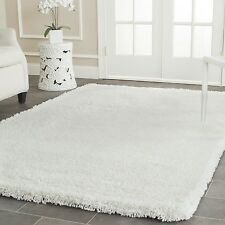 Safavieh Hand-Tufted White Plush Shag Area Rugs - SG140A