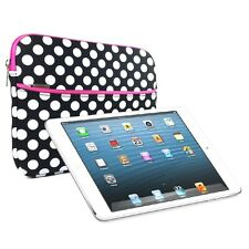 "Polka Dots Slim Protective Neoprene Sleeve Case Cover for 8""- 9.7"" Tablet PC"