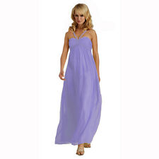 Sweetheart Long Flowing Maxi Formal Evening Party Gown Bridesmaid Dress Lavender
