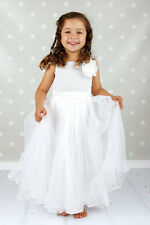 Sequins Flower girl Dress Gold Party Dress White Pageant Dress Birthday Silver