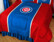 CHICAGO CUBS SIDELINES COMFORTER AND SHEET SET - 19-2915-Combo