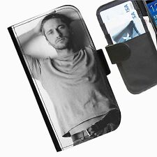 Gerard Butler Leather wallet mobile phone Skin case Personalised iPhone