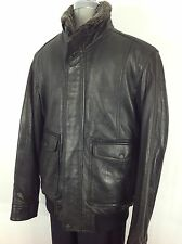 Andrew Marc NWT Black Bomber  Jacket , with Detachable Shearling collar