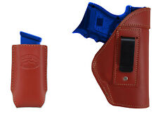 NEW Barsony Burgundy Leather IWB Holster + Mag Pouch Walther Steyr Comp 9mm 40