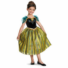 Disney Movie Frozen Anna Coronation Gown Deluxe Child Girls Party Costume