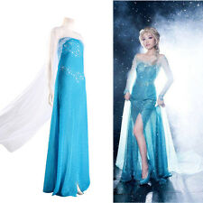 Hot Movies Princess Costume Cosplay Adult SIZE S/M/L Tulle Elsa Fancy Gown Dress