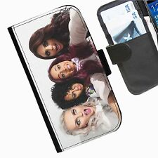Little Mix Leather wallet mobile phone Skin case Personalised iPhone