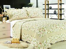 66-All For You quilt set, bedspread, and coverlet with pillow shams-leaves print