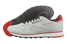 REEBOK CLASSIC LEATHER PERF M43139 EVA STEEL BLACK RED WHITE CASUAL SHOES MEN