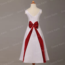 New Girls Cocktail Cute Bow Wedding Graceful Bridesmaid Formal Evening Dresses