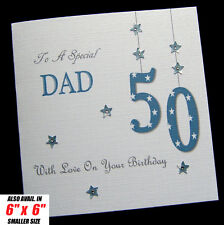 """Large 8""""x8"""" Personalised Birthday Card Dad Brother Son Grandad Uncle Nephew ANY"""
