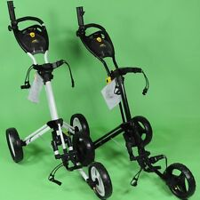 Genuine Powakaddy Twinline 4 Push Pull 3 Wheel Golf Trolley Black/White New 2017