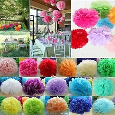 Multi-color Multi-size Tissue Paper Pom Poms Flower Balls Wedding Birthday Party
