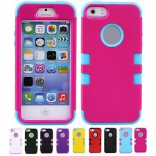 MULTI-COLOR Case COOL DURABLE Skins Cover Bumper Shell For Apple iPhone 5 5S