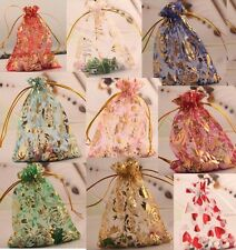10/100 Gauze Organza Bag Jewelry Packing Pouch Favor Gift  Wedding Bags 10x12cm