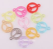 100pcs Fashion Mixed Color Peace Symbol Charms For Wholesale&DIY Jewelry