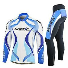 Men's Cycling Jacket Bicycle Bike Outdoor Jersey+3D Padded Long Pants Set M-3XL