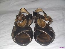 BABY GIRLS GOLDEN, SILVER PINK SHINEY SANDALS SIZE 3 4 5 6 & 7 NEW BOW