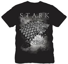 Game of Thrones HBO Snowy Stark Wolf Direwolf Men's NWT Licensed T- Shirt