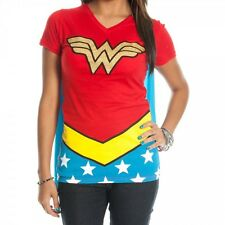 Wonder Woman Costume T-Shirt with Cape - Women's Shirt Jr's Sizing