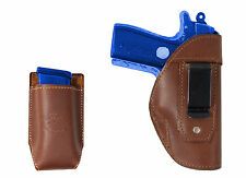 New Barsony Brown Leather IWB Holster + Mag Pouch SIG Walther 380 Ultra Compact