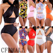 Hot Sexy Women's Vintage Push Up High Waist Bikini Set Bandage Swimwear Swimsuit