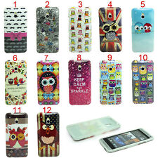 Owl Chicken India's beard Crown Soft Skin Case Cover For HTC One Mini M4