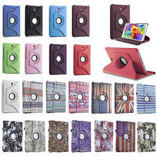 "Rotating PU Leather Smart Stand Case For Samsung Galaxy Tab 4 7.0"" 8.0"" 10.1"""