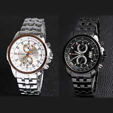 Luxury Men Curren 8082 Sport Stainless Steel Water Resistant Wrist Watch Watches
