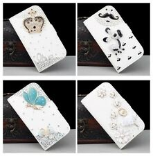Hot Sale Luxury 3D Bling Crystal Rhinestone Flip Wallet PU Leather Case Cover 04