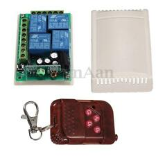 4 Channel Wireless Remote Control Switch Relay Transmitter DC 12V RF 4CH Receive