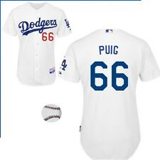Majestic Los Angeles Dodgers Yasiel Puig 66 Cool Base MLB Jersey - White (M-XXL)