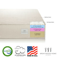 "Brentwood Home 10"" Gel Infused HD Memory Foam Mattress, 100% USA, CertiPUR-US"