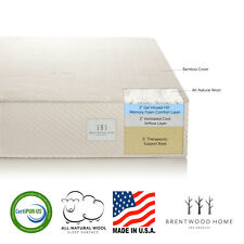 """Brentwood Home Bamboo 9"""" Gel Infused HD Memory Foam Mattress, Made in USA"""