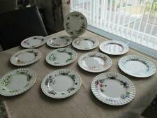 "ROYAL ALBERT FLOWER OF THE MONTH SALAD / DESSERT 8.25"" PLATES"