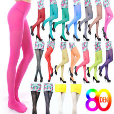 80D Fashion OPAQUE PANTYHOSE Sexy Women Girl Long Candy Colors Stocking