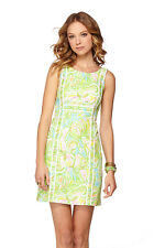 Lilly Pulitzer Fryer Shift Elephant Ears Cotton Shift Dress 8 10 12  New
