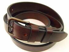 """Orion Leather 1"""" Sunset Brown Harness Leather Belt Double Loop Square Buckle"""