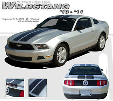 """Racing Rally 10"""" Hood Roof Trunk Stripes Graphics Decals fits 2010-2012 Mustang"""