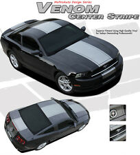 Wide Center Snake Racing Stripe 3M Graphic Decal 2013-2014 Ford Mustang GT V6