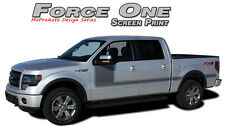 Force One Screen Print Side Hockey Decals Stripes Graphics 2008-2014 Ford F-150
