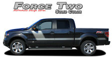 Force Two Solid Side Hockey Decals Stripes Vinyl Graphics 2008-2014 Ford F-150