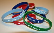 Christian Inspirational Jehovah El Shaddai Scripture Bracelets Snap Free Now