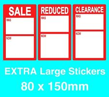 Red Promotional Display Stand Point Of Sale Retail Price Stickers Sticky TagsPOS