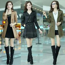 Fashion Women's Double Breasted Lace Trench Coat Outwear Long Jacket Overcoat