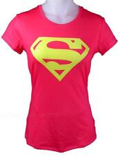 Under Armour Alter Ego SUPERGIRL SUPERMAN Fitted T-Shirt PINK/NEON Women's