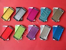 Full Housing Alloy Metal Replacement Back Cover Battery Case Gold for iPhone 5S